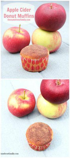 Apple Cider Donut Muffins www.thenymelrosefamily.com #muffins #applerecipe
