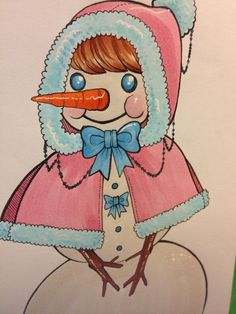 A cute snow-woman I drew over thanksgiving. I don't think snowladies get enough love!