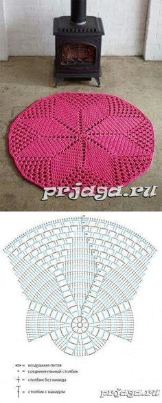 Super ideas for crochet rug zpagetti Crochet Diy, Filet Crochet, Mandala Au Crochet, Crochet Doily Rug, Crochet Rug Patterns, Crochet Carpet, Crochet Doily Patterns, Crochet Diagram, Crochet Home