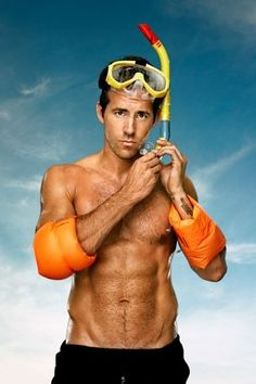 Ryan Reynolds He can teach me how to snorkle ;)