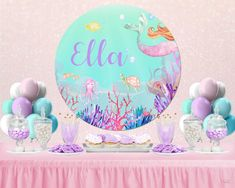 2 personalized birthday banner party princess children kid girls any name ages