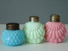 Opaque Glass Salt and Pepper Shakers - Consolidated Glass Shakers - Antique Glass Salt Shakers. $128.00, via Etsy.