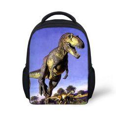FORUDESIGNS Kindergarten Kids Backpacks Bags Children Shoulder Backpack Cool 3D Dinosaur Bagpack Toddler Mochila Infantil School