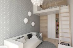 Scandinavian style nursery/kids room by mirai studio scandinavian Small Bedroom Colours, Best Wall Colors, Baby Boy Nursery Decor, Cool Kids Rooms, Cool Beds, House Rooms, Girl Room, Home Interior Design, Kids Bedroom