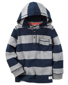Kid Boy Long-Sleeve Hooded Tee from Carters.com. Shop clothing & accessories from a trusted name in kids, toddlers, and baby clothes.