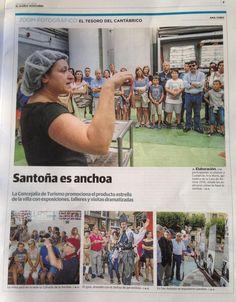 El Diario Montañés se hace eco de la Jornada Santoña es Anchoa organizada por el departamento de Turismo y con la colaboración de Cofradia de la Anchoa.  #santoñateespera #santoñaesanchoa #turismosantoña
