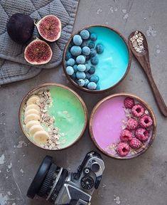 Fruit Smoothies, Healthy Smoothies, Smoothie Recipes, Breakfast Smoothies, Healthy Drinks, Healthy Recipes, Smoothie Bol, Food Bowl, Breakfast Bowls