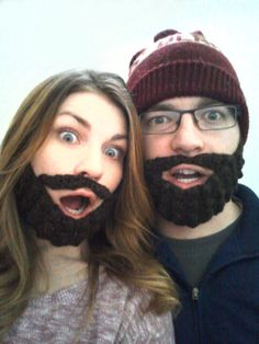 mad mim_free crochet beard pattern I'm currently making 8 of these bad-boys. We'll wear them to support Conchita Wurst opening the Eurovision Song Contest, to be held in Austria in Crochet Beard Hat, Crochet Mask, Hand Crochet, Free Crochet, Knit Crochet, Crochet Gloves, Crochet Things, Crochet Beanie, Crochet Scarves