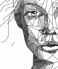 Good Images geometric portrait drawing Popular There are various means of drawing portraits. Some which work very well as well be capable of secret the primary percep Line Drawing, Drawing Sketches, Art Drawings, Drawing Art, Drawing Simple, Drawing Portraits, Geometric Drawing, Geometric Art, Kunst Inspo