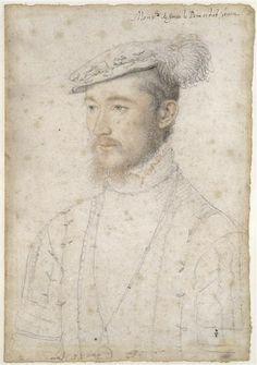"""""""François de Lorraine, duc de Guise (1520-1563)"""", 1550, François Clouet (vers 1515-1572)"""