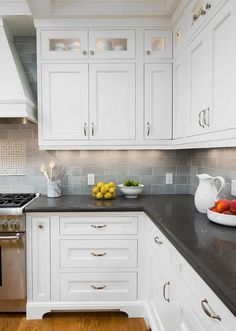 Countertop and Backsplash Combo Ideas. The perimeter countertops used in this…