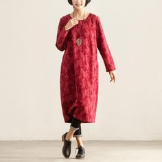 Loose Casual Autumn Winter Women Long Sleeve Dress