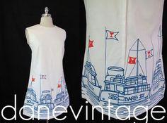 Vintage Nautical Mad Men Vested Gentress Dress on Ebay at Dane Vintage
