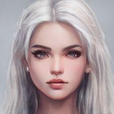 Digital Art Girl, Digital Portrait, Portrait Art, Portrait Photography, Character Sketches, Character Portraits, Fantasy Character Design, Character Inspiration, Beautiful Fantasy Art