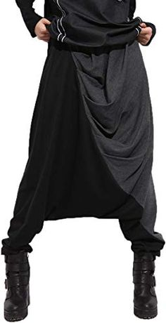 online shopping for ellazhu Women Baggy Harem Drapes Color-Block Pants OneSize Black from top store. See new offer for ellazhu Women Baggy Harem Drapes Color-Block Pants OneSize Black Sarouel Pants, Harem Pants, Trousers, Women's Pants, Adidas Pants, Blue Pants, Ankle Pants, White Pants, Mode Outfits