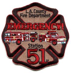CALIFORNIA - LOS ANGELES COUNTY FIRE - STATION SQUAD 51 EMERGENCY - EMS - PATCH