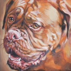 Dogue de Bordeaux art print CANVAS print of LA door TheDogLover, $19.99