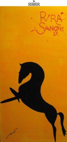 PVRA SANGRE | pintura en acrílico sobre madera | 50x100 | RRiRR Ricardo Gil Turrion | Coleción privada