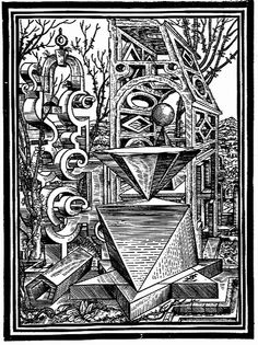 017- Geometria y perspectiva 1567-Lorenz Stoer    Referencia post:  www.odisea2008.com/2010/03/poliedros-en-el-arte.html