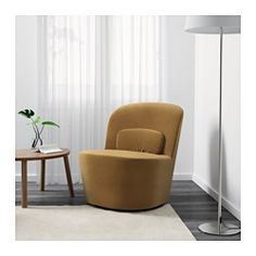 IKEA - STOCKHOLM, Swivel chair, Sandbacka dark beige, , This chair is made from molded high resilience foam that provides comfort and support – and keeps its shape for years.Velvet is a soft, luxurious fabric that is resistant to abrasion and easy to clean using the soft brush attachment on your vacuum.10-year limited warrranty. Read about the terms in the limited warranty brochure.