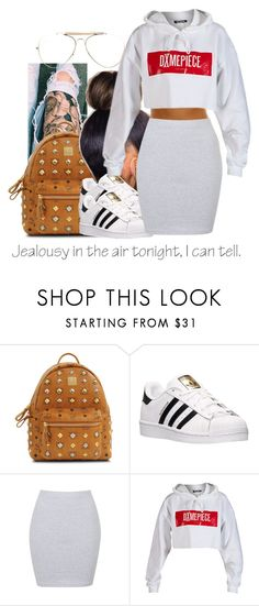 """""""untitled #143"""" by yani122 ❤ liked on Polyvore featuring MCM, adidas, Annie Greenabelle, Dimepiece and CÉLINE"""