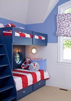 Nautical themed kids room