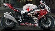 Bikeskinz - Motorcycle Graphics - Massacre 2 white