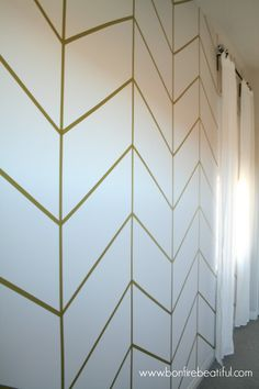 DIY- herringbone-wall-wallpaper-nursery