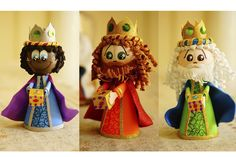 fofuchos reyes magos yaya-arte Fun Crafts, Crafts For Kids, Nativity Stable, Christmas Time, Christmas Ornaments, Reno, Hedgehogs, Handmade Crafts, Fun Projects