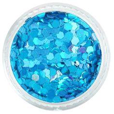 Ocean Blue Hexagon Glitter – Solvent Resistant Glitter from Glitties Nail Art Online Store Bulk Glitter, Cosmetic Grade Glitter, All That Glitters, Art Online, Gta, Sparkles, Nail Polish, Nail Art, Ocean