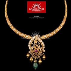 Traditional gold necklaces for women from the house of Kameswari. Shop for antique gold necklace, exquisite diamond necklace and more! Gold Jewelry Simple, Trendy Jewelry, Silver Jewelry, Pearl Jewelry, Jewelry Sets, Antique Jewelry, Silver Ring, 925 Silver, Beaded Jewelry