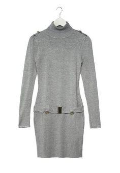 Strikket kjole - grå