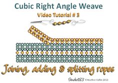 Free Cubic Right Angle Weave video tutorials | HeatherCollinBeadesigns