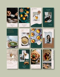 The Rosemary social media template Food Graphic Design, Food Poster Design, Food Menu Design, Graphic Design Inspiration, Flyer Design, Social Media Banner, Social Media Template, Social Media Design, Instagram Design