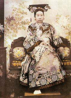 Empress Dowager Cixi of China(1835-1908). During the 19th century she was nothing less than the most powerful woman in all of Asia.