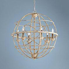 """Quorum Merci 26 3/4"""" Wide Persian White Pendant Light - #2Y128   Lamps Plus"""