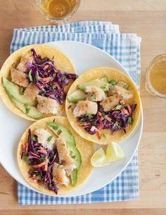 Recipe: Fish Tacos with Quick Cabbage Slaw — Weeknight Recipes from The Kitchn | The Kitchn