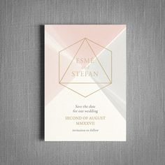 Featuring sparkling pearl card or real metallic foil. A luxurious classy invite. ​ High-class luxury wedding invitations inspired by the dispersion of light from the geometric prism shapes found...