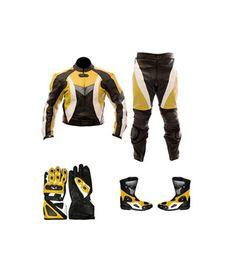 Premium Quality Motorcycle Apparel Men's Leather Suit