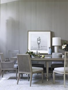 Dining room designed by Barbara Barry