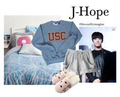 """""""Cuddling with JH"""" by effie-james ❤ liked on Polyvore featuring art, simple, kpop, korean, bts and Jhope"""
