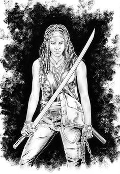 Michonne / The Walking Dead by jasonbaroody on DeviantArt