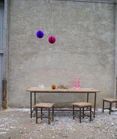 Feestje van Stoer Metaal :) , tafels en krukken van www.stoermetaal.nl