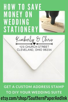 Calligraphy Address Stamp  Rsvp Wedding Stamp For Wedding
