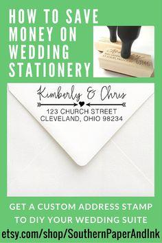 Calligraphy Address Stamp  Rsvp Wedding Stamp For Wedding