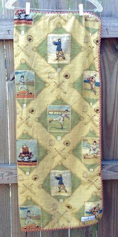 "Baby Boy Blanket by Glenna Jean Luxury Old Fashion Baseball 32"" x 39"" #GlennaJean"