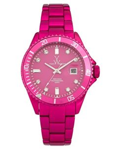 watch by Toy Watch (by Marco Mavilla) in pink steel EUR 220 at Asos