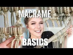 HOW TO: Macrame Basics | Larks Head, Square Knot, Spiral Stitch, Double Half Hitch - YouTube