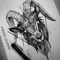 Instagram photo by fredao_oliveira - Goat ✍️ #electricink