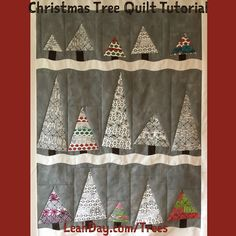 Wonky Christmas Tree Quilt Tutorial | Free Motion Quilting Project with Leah Day | Bloglovin'